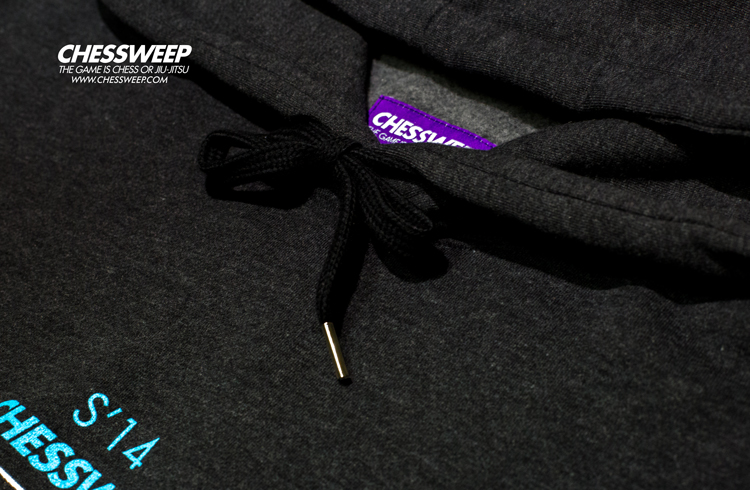 CHESSWEEP OVER-FIT JIU-JITSU HOODIE CHARCOAL